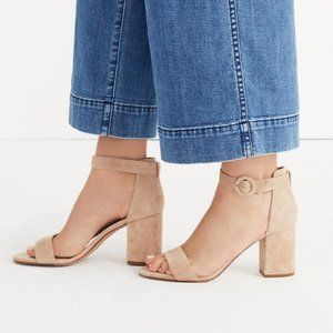 New Madewell The Regina Suede Ankle Strap Sandal